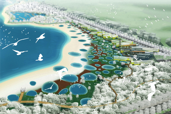 The Qinhuangdao Beach Restoration: An Ecological Surgery, Qinhuangdao City, Hebei Province, China, Turenscape, 2010 Professional ASLA Honor Award, General Design Category image: Turenscape