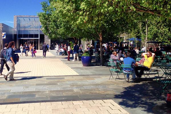 West Campus Plaza at Duke University, designed by Hargreaves Associates / image: Mark Hough