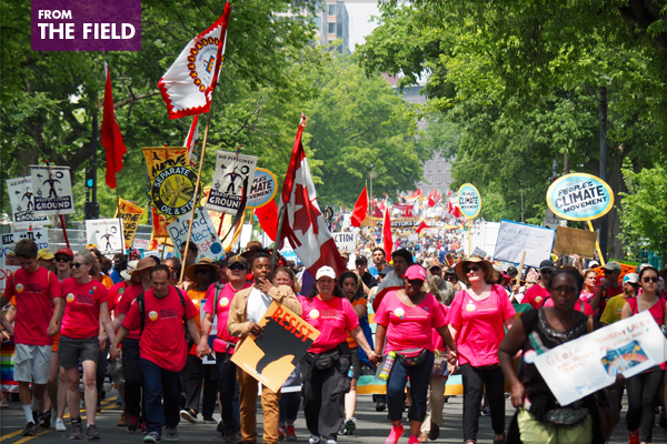 The People's Climate March in Washington, D.C., on April 29, 2017 / image: Alexandra Hay
