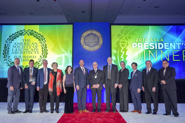 2018 ASLA Honors recipients