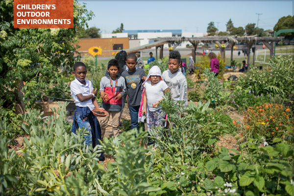Hoover Elementary School students in their school's garden