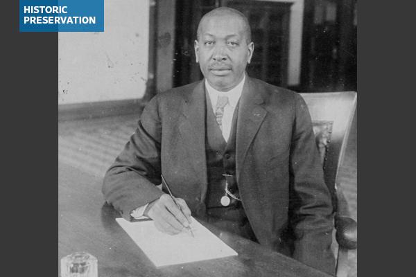 Black-and-white portrait of Oliver Toussaint Jackson