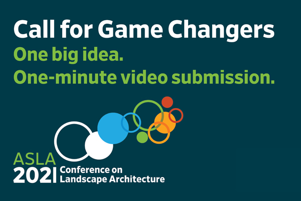 Call for Game Changer presentations graphic