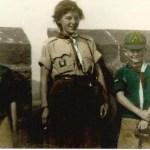 Centre: Kathleen Gordon, Cub Mistress (Sister of John 'Guts' Gordon)