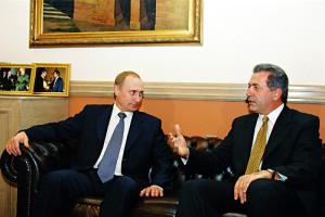 """Vladimir Putin in Greece 6-9 December 2001-14"" by Kremlin.ru."