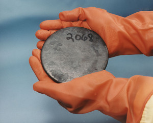 "Scrap Highly Enriched Uranium. Image Source: ""HEUranium"" by Department of Energy"