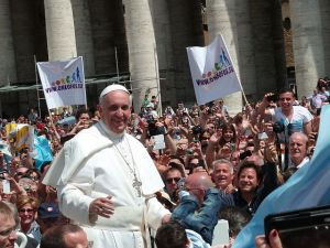 """""""Pope Francis among the people at St. Peter's Square - 12 May 2013"""" by Edgar Jiménez from Porto, Portugal"""