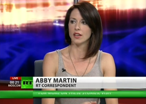 """Abby Martin """"Abby Martin RT correspondent"""" by RT - RT Youtube channel,"""