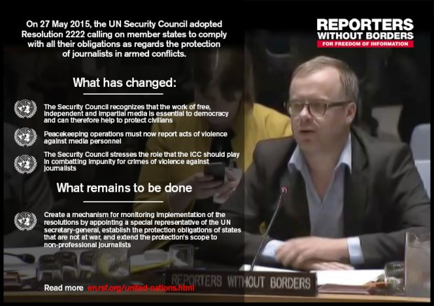 Meme about the new UN resolution. Image source: Reporters Without Borders