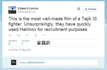 Screenshot of the Tweet mentioned by GVO