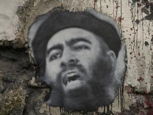 Abu Bakr al Baghdadi, painted portrait P1040030 Image Source: thierry ehrmann, flickr, Creative Commons