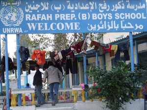 UNRWA school. Image Source: ISM Palestine, Flickr, Creative Commons