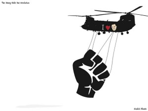 The Army Stole the Revolution Image Source: Khalid Albaih, Flickr, Creative Commons