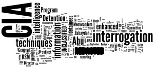 Word cloud of the Committee Study of the Central Intelligence Agency's Detention and Interrogation Program Image Source: Albert Schäferle, Flickr, Creative Commons