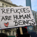 Refugees are human beings Image Source: Haeferl