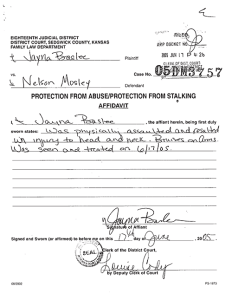 The Protection Order filed against Mosely