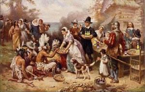 The First Fun Thanksgiving, after Jean Leon Gerome Ferris (1863–1930). Flickr, Creative Commons, Mike Licht
