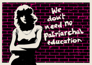 Image Source: CHRISTOPHER DOMBRES, Flickr, Creative Commons PATRIARCHAL EDUCATION 2014 After the Pink Floyd lyrics from the album The Wall 1979, for the education thematic and actress Nancy Allen for the attitude.