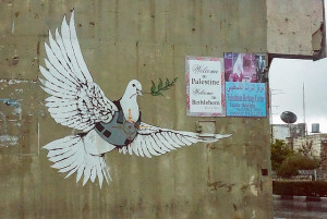 Image Source: Kate. Get the picture., Flickr, Creative Commons Some Banksy graffiti in Palestine.