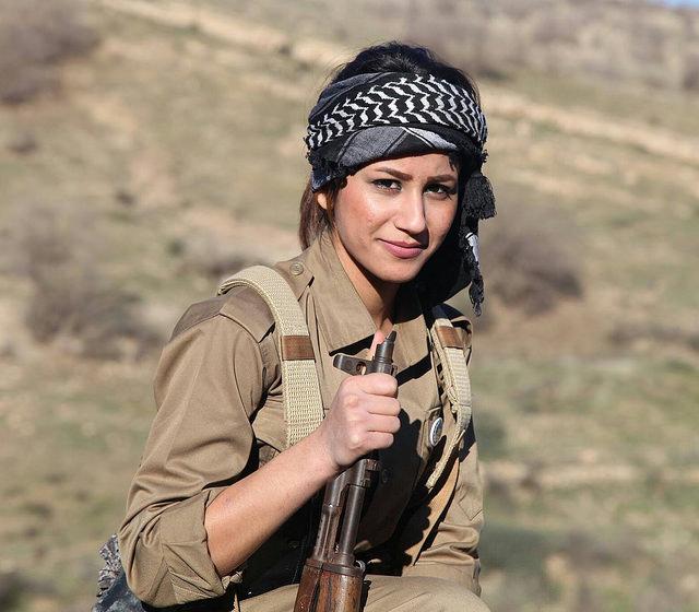 Death of beautiful teenage Kurdish fighter sparks multiple