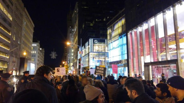 "The ""free speech zone"" in front of Trump Tower - Photo Credit: Randi Nord"