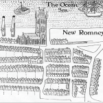Part of William Webb's map of Romney Marsh. Dated 1614 and held by Magdalene college, Oxford.