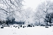 Old Burial Ground in winter
