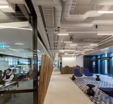 Dematerialised fitout - exposed services and polished concrete