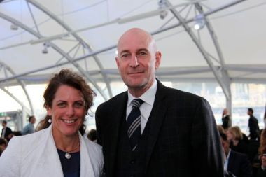 Romilly Madew, with Peter Verwer