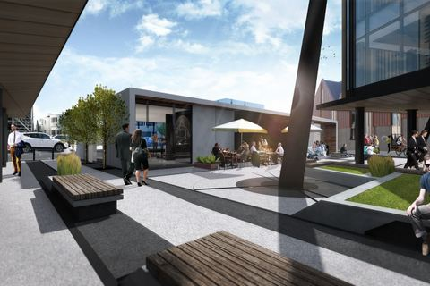 Artist impression of the rear of the Knox Pavilion.