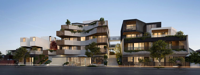 Artist's impression of the proposed redevelopment of 122 Roseneath St.
