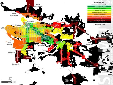 Vancouver's composite accessibility index map