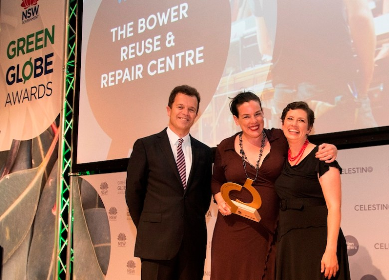 Mark Speakman and the Bower's Louise Gulbis and Annette Mayne