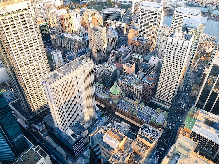 Sydney city aerial