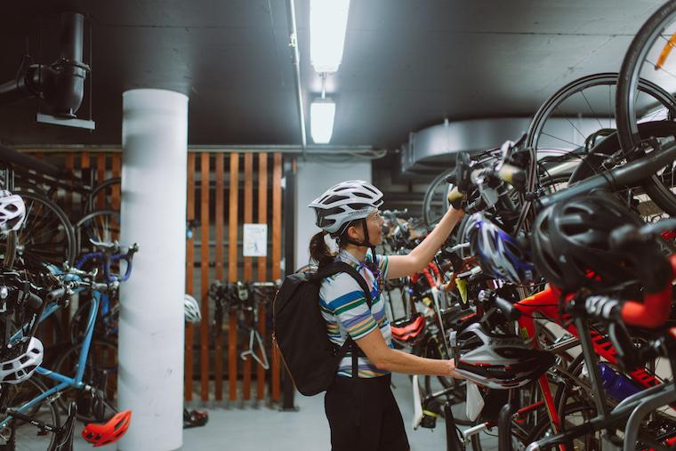 women work bike rack
