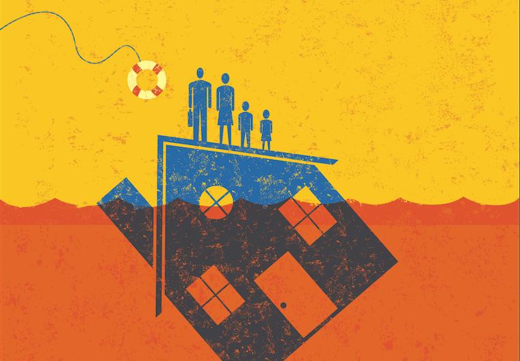 housing crisis illustration