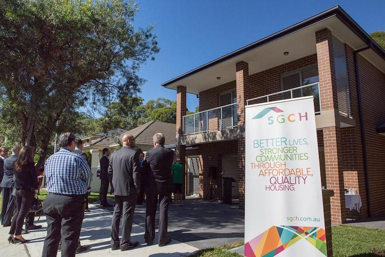 SGCH's energy efficient homes in Carss Park