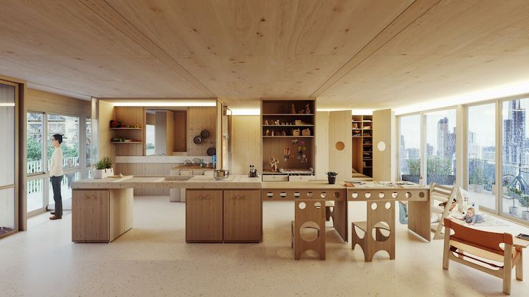apartment, prefab, modular