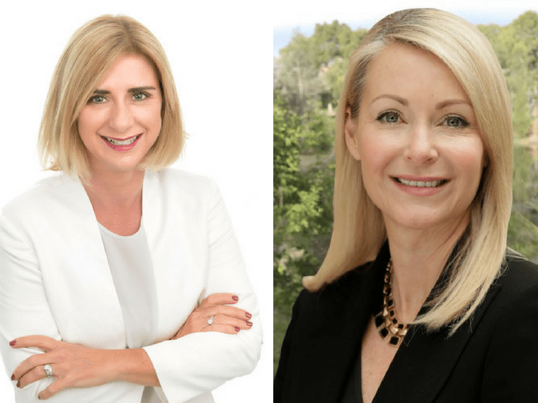 Sandra Brewer and Allison Hailes property lobbies