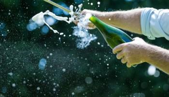 champagne bottle sabrage