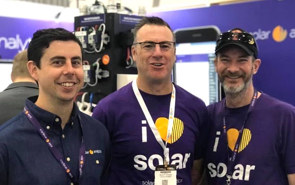 Photograph of the Solar Analytics team