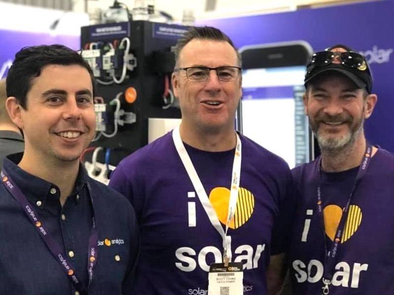 Photograph of the Solar Analytics team