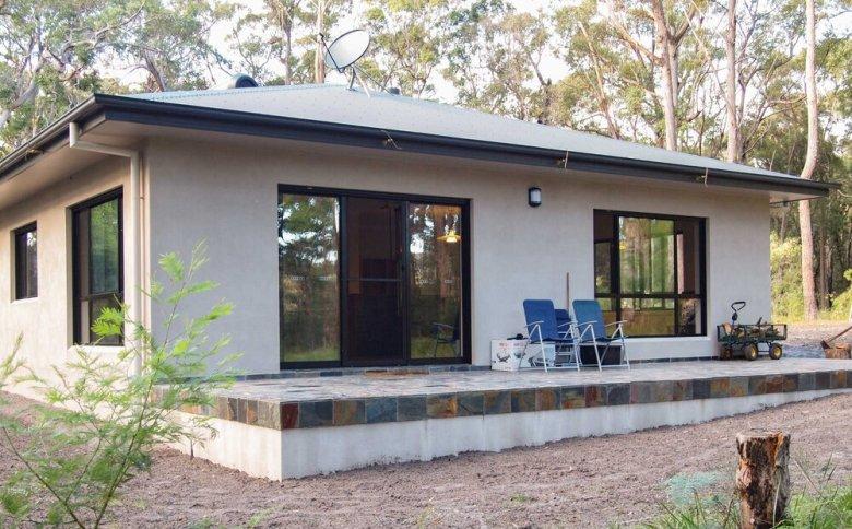 concrete outdoor deck