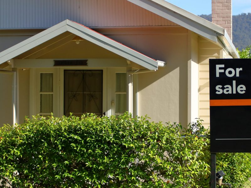 Australian House with for sale sign