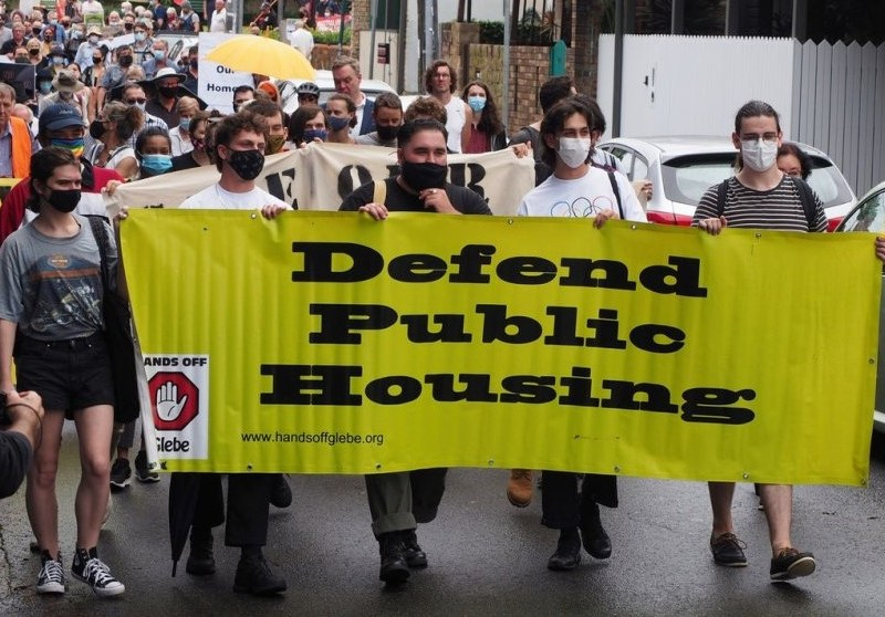 Glebe social housing protest Photo: Peter Boyle