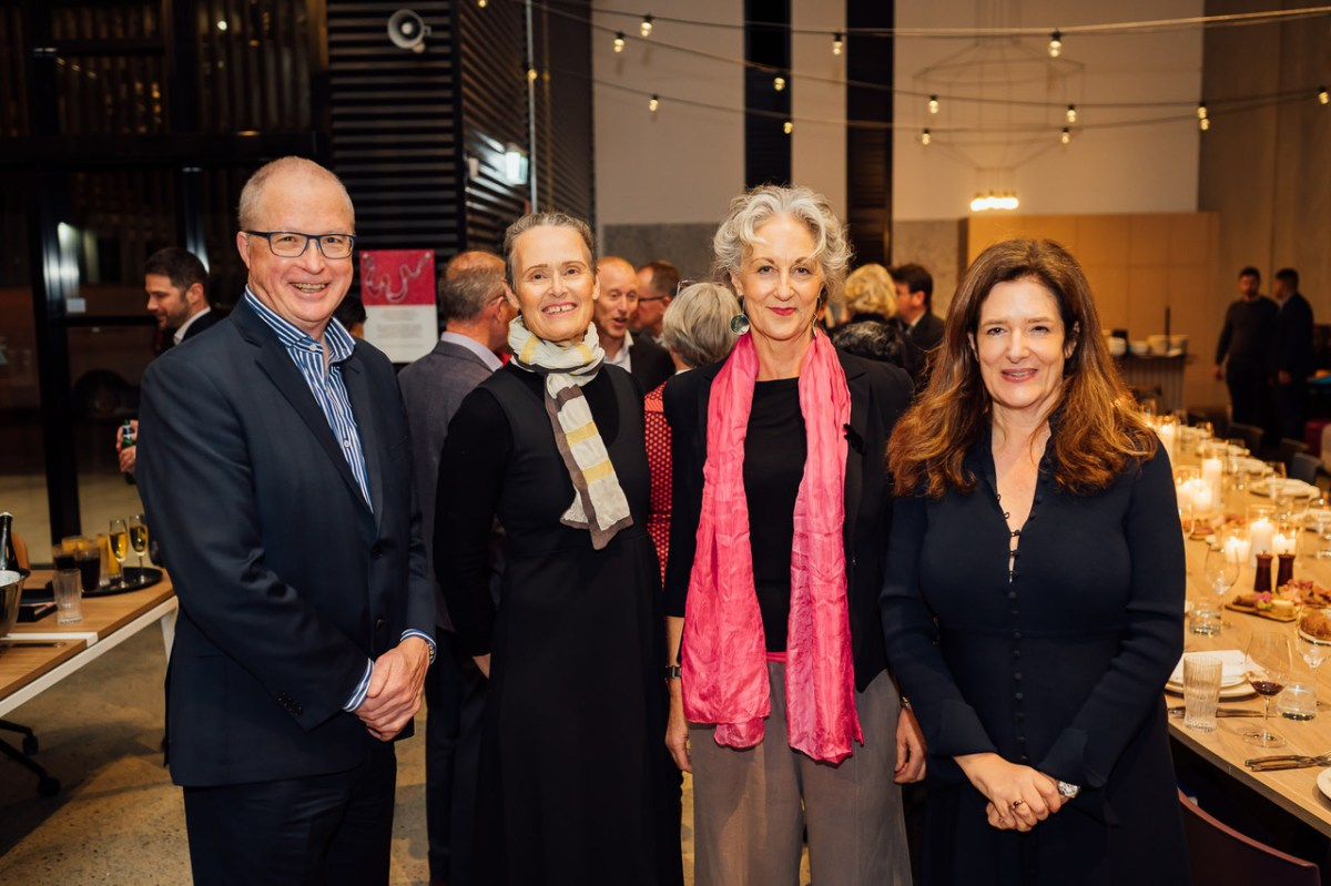L-R: Malcolm Snow, Catherine Townsend, Dr Elizabeth Farrelly, and Catherine Carter
