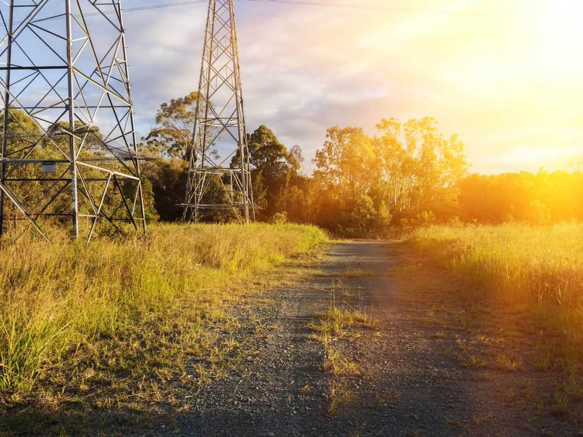 Ranch road in Queensland