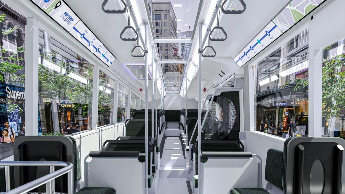electric bus interior