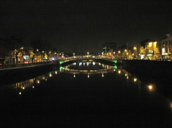 River Liffey by night.