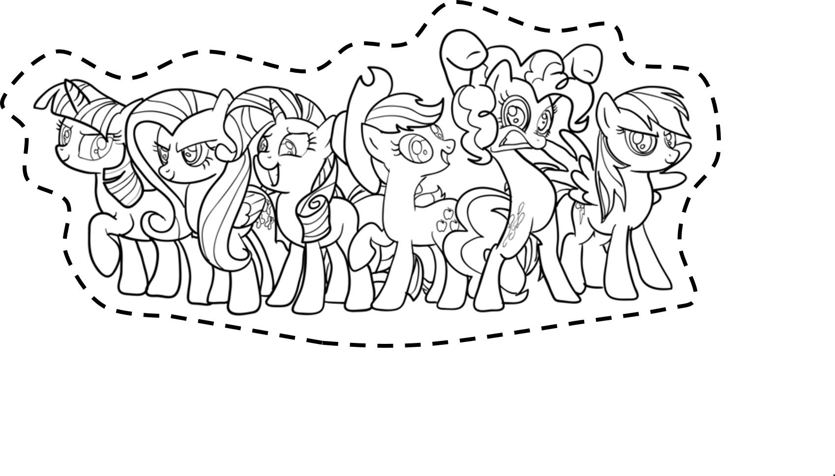 My Little Pony Printable Cut Outs